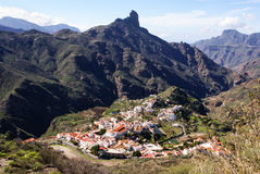View of Roque Bentayga Gran Canaria royalty free stock image