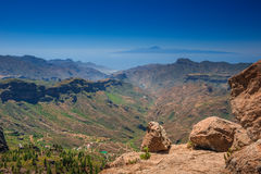 View from Roque Nublo Royalty Free Stock Photos