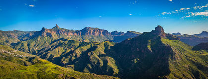 View of the Roque Nublo peak on Gran Canaria island, Spain Stock Photography