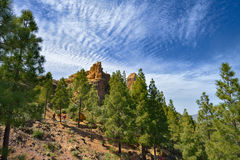 View of the Roque Nublo peak on Gran Canaria island, Spain Royalty Free Stock Photography