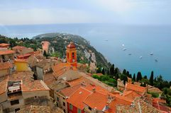 View of Roquebrune-Cap-Martin. View Of The Roquebrune-Cap-Martin, France Stock Photography