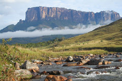 A view of the Roraima Mountain in Venezuela Royalty Free Stock Photo