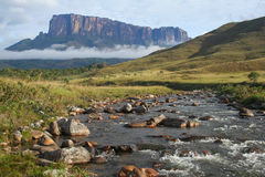 A view of the Roraima Mountain in Venezuela Stock Photography