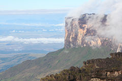 A view of the Roraima Mountain in Venezuela Stock Photos