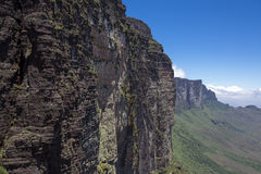 View from Roraima Tepui - Table Mountain - Triple border, Venezu Stock Photo