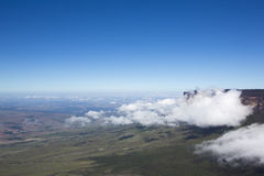 View from Roraima Tepui - Table Mountain - Triple border, Venezu Royalty Free Stock Photo
