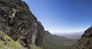 View from Roraima Tepui - Table Mountain - Triple border, Venezu Royalty Free Stock Images