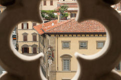 View through rose window in Florence Royalty Free Stock Images