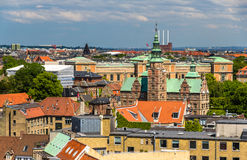 View of Rosenborg Castle from The Round Tower Royalty Free Stock Photography