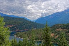 View from the Ross Lake Overlook. North Cascades National Park stock images