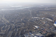 View Rostov-on-Don on board the aircraft Stock Photography