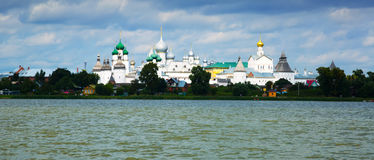 View on rostov kremlin from lake Royalty Free Stock Image