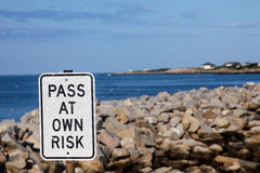 A view from rotary end at Bear skin Neck in Rockport Royalty Free Stock Photos