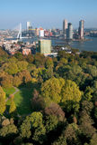 View of Rotterdam city and park from Euromast Royalty Free Stock Photo