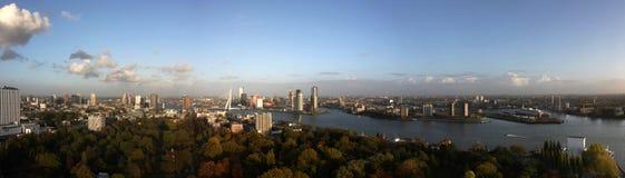 View of Rotterdam XXL. A panoramic photo of Rotterdam, the Netherlands stock photo
