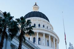 California state capital building at dawn Royalty Free Stock Photos