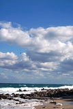View of rough sea in stormy sky Royalty Free Stock Image
