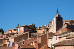 View of Roussillon Village in the Luberon Stock Photo