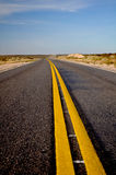 View of Route 20 in La Pampa, Argentina Stock Image