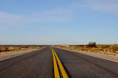 View of Route 20 in La Pampa, Argentina Royalty Free Stock Photo