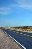 View of Route 20 in La Pampa, Argentina Stock Photos