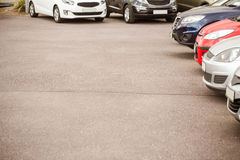 View of row new car Royalty Free Stock Photos