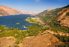 A View from rowena crest overlook. A breathtaking View from rowena crest overlook Stock Photos