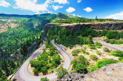 A View from rowena crest overlook. A breathtaking View from rowena crest overlook Stock Photo