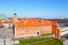 View of  Royal Castle on the Castle Square in the Old Town of Warsaw, Poland Stock Image
