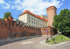 View of the Royal castle in Krakow / Poland Stock Image