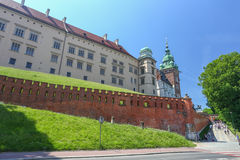 View of the Royal castle in Krakow / Poland Royalty Free Stock Photos