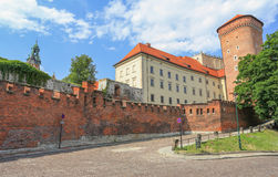 View of the Royal castle in Krakow / Poland Royalty Free Stock Photography