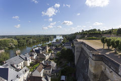View from the royal Chateau at Amboise Stock Image