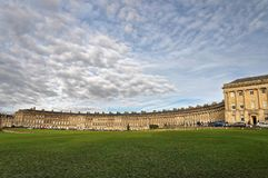 View of the Royal Circus in Bath England. The Royal Circus Comprises of Luxury Georgian Era Town Houses. Taken on Dec 10, 2011 Stock Photos