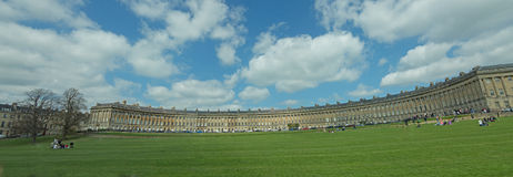 The view of the royal crescent Royalty Free Stock Images