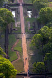 A view of the Royal Gardens from the summit of Sigiriya Rock in Sri Lanka. Royalty Free Stock Photo