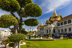 View of the Royal Grand Palace in Bangkok. Stock Image