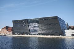 View of the Royal Library. Copenhagen, Denmark - October 10, 2018 : View of the Royal Library in Copenhagen royalty free stock photos