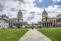 View of the Royal naval college, Greenwich, London, England, Eur Royalty Free Stock Photo