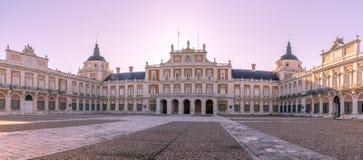 View at the Royal Palace of Aranjuez. ARANJUEZ,SPAIN - APRIL 24,2016 - View at the Royal Palace of Aranjuez. The Royal Palace of Aranjuez is a residence of the Royalty Free Stock Image