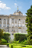 View of the Royal Palace of Madrid Stock Images