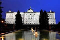 Madrid at night Royalty Free Stock Photo