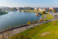 View from Royal Wawel Castle area in Krakow on november 02, 2014 Royalty Free Stock Photo