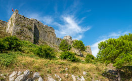 View at the Rozafa castle royalty free stock images
