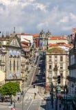 View of Rua 31 de Janeiro in Porto Stock Photography