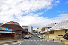 View of Rue Eugene Porcheron at Quartier Latin, Noumea Royalty Free Stock Images