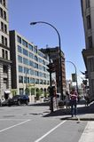 Montreal 26th June: Street view from Old Montreal in Canada. View of Rue Notre Dame from Vieux Montreal city in Canada on 26th June 2017 stock photos