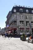 Montreal 26th June: Street view from Old Montreal in Canada. View of Rue Notre Dame from Vieux Montreal city in Canada on 26th June 2017 stock photo