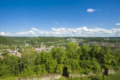 View from the ruin of the castle Hohennagold Stock Images