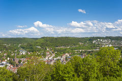 View from the ruin of the castle Hohennagold Royalty Free Stock Photos